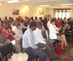 Members attending a lecture during the coffee morning forum at KWS